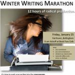 Writers Marathon Jan 25, Bellingham WA