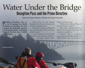 water under the bridge deception pass and the prime directive by Dawn Groves