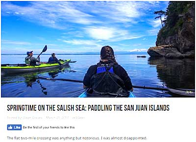 Paddling the San Juan Islands by Dawn Groves